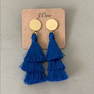 J Crew Tassel Post Earrings